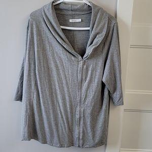 Reitmans zip up sweater.  2X.